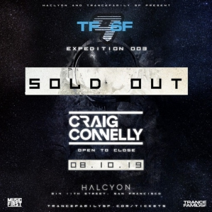 Craig Connelly - Live @ Trance Family San Francisco 9, Halcyon San Francisco, United States 2019-08-10