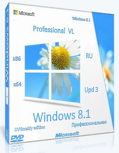 Microsoft® Windows® 8.1 Professional VL with Update 3 x86-x64 Ru by OVGorskiy® 03.2020 2DVD